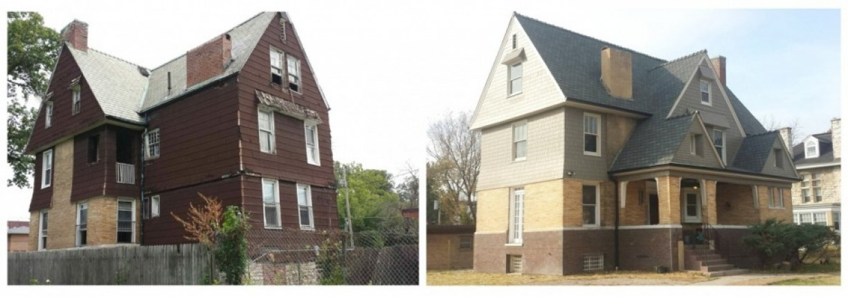5900 West Cabanne Pl., Before & After