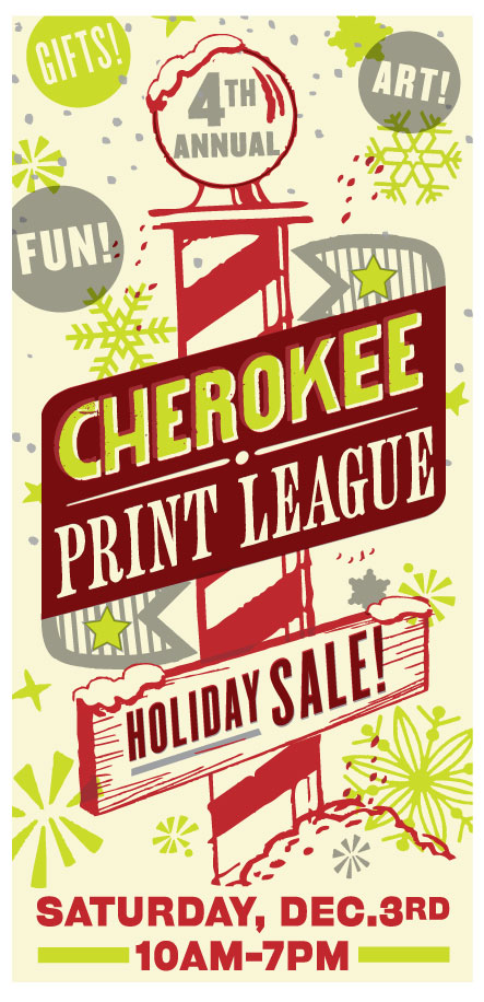 Cherokee Print League 4th Annual Holiday Sale On December 3rd